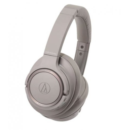 Casti audio Over-ear Audio-Technica ATH-SR50BT, Bluetooth, Brown Grey - Produs resigilat